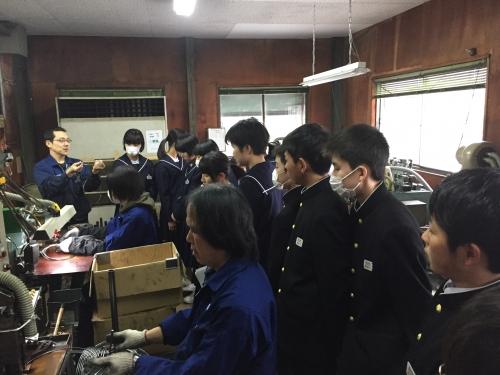 福島県伊達市立霊山中学校 工場見学