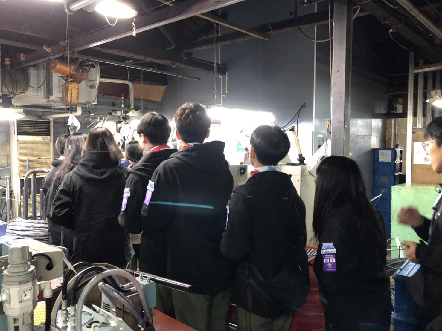 韓国 スカウト交歓会 工場見学